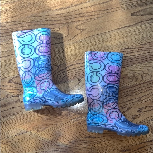 Coach Multi-Colored Rain Boots